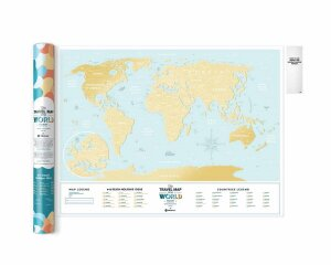 Скретч Карта Мира Travel Map Holiday Lagoon World (в тубусе)