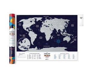 Скретч Карта Мира Travel Map Holiday World (в тубусе)