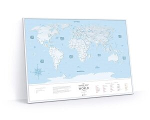 Скретч Карта Мира Travel Map Silver World (в рамке)